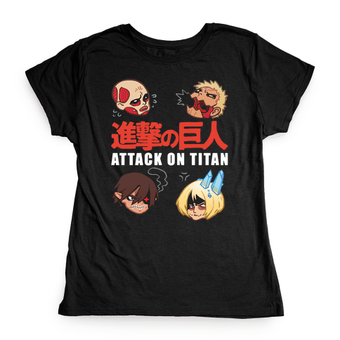 Attack On Titan Heads Womens T-Shirt