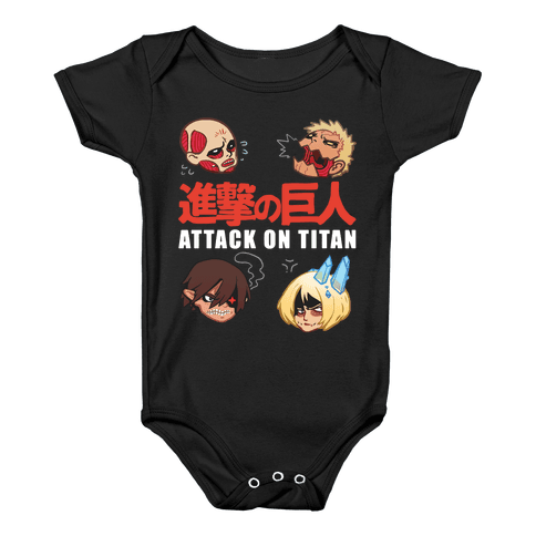 Attack On Titan Heads Baby Onesy