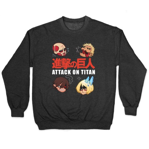 Attack On Titan Heads Pullover