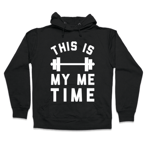 This Is My Me Time (White) Hooded Sweatshirt
