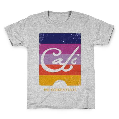 California - Sunset (Vintage) Kids T-Shirt