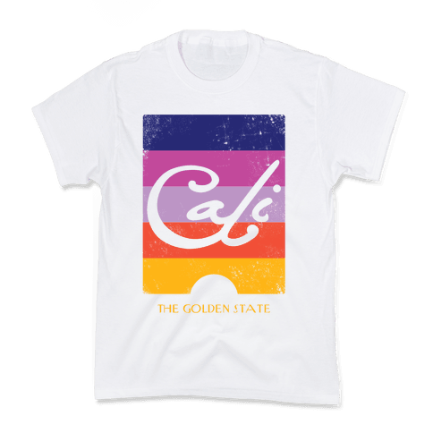 California - Sunset (Vintage) Kids T-Shirt