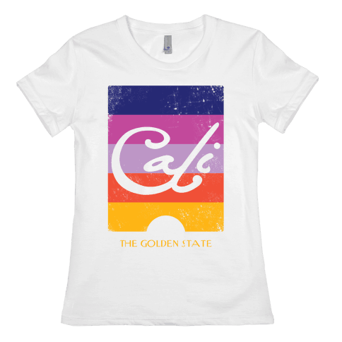 California - Sunset (Vintage) Womens T-Shirt