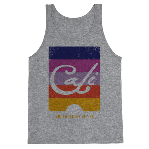 California - Sunset (Vintage) Tank Top