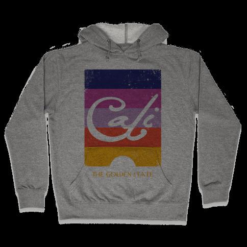 California - Sunset (Vintage) Hooded Sweatshirt