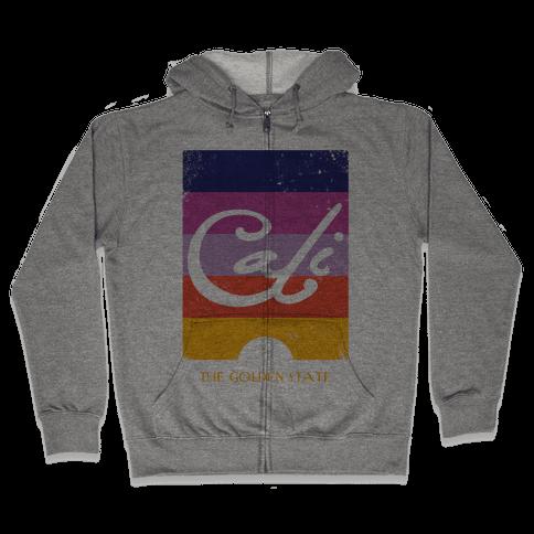 California - Sunset (Vintage) Zip Hoodie