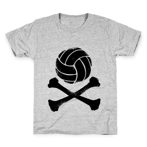 Volleyball and Crossbones (Vintage) Kids T-Shirt