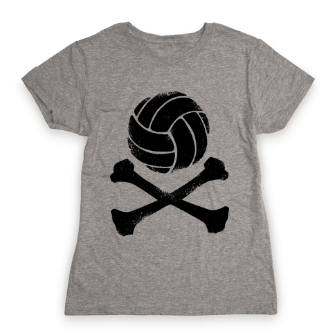 Volleyball and Crossbones (Vintage) Womens T-Shirt