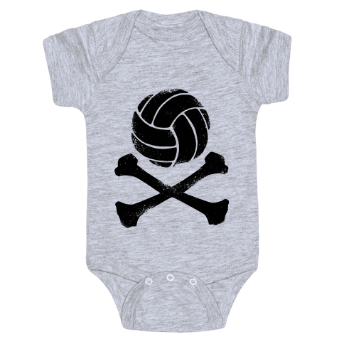 Volleyball and Crossbones (Vintage) Baby Onesy