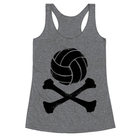 Volleyball and Crossbones (Vintage) Racerback Tank Top