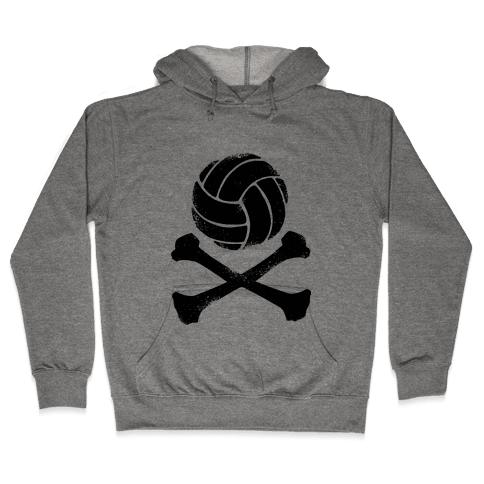 Volleyball and Crossbones (Vintage) Hooded Sweatshirt