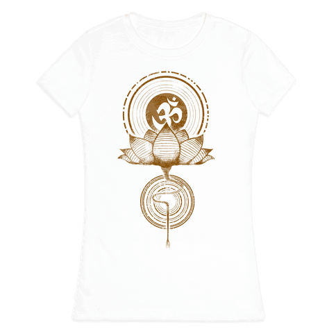 Aum and Lotus Womens T-Shirt