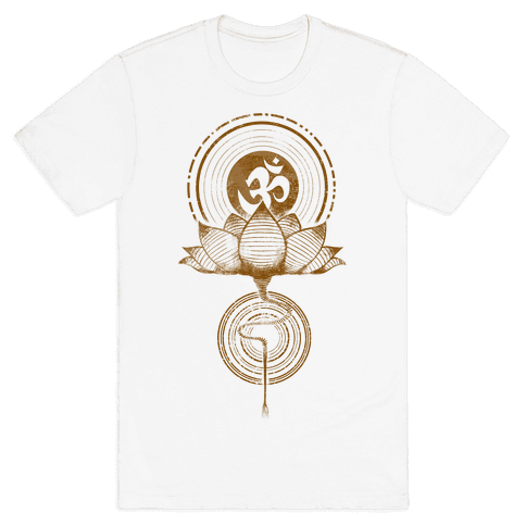 Aum and Lotus Mens T-Shirt