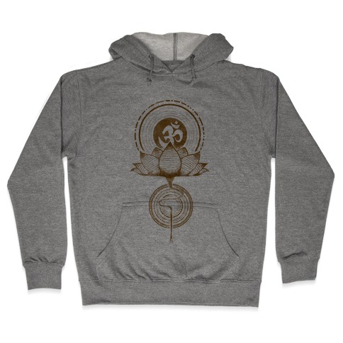 Aum and Lotus Hooded Sweatshirt