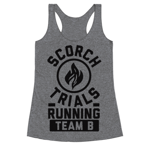 Scorch Trials Running Team B Racerback Tank Top