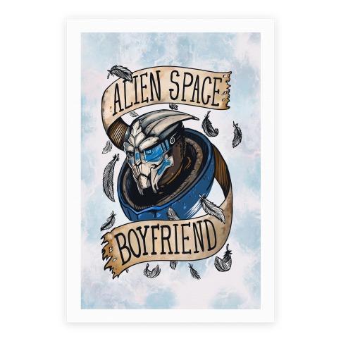 Alien Space Boyfriend Garrus Parody Poster