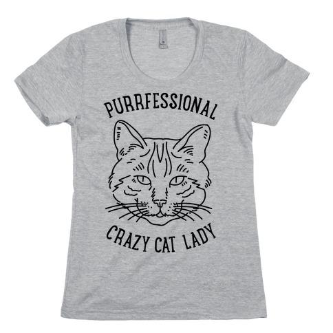 Purrfessional Crazy Cat Lady Womens T-Shirt