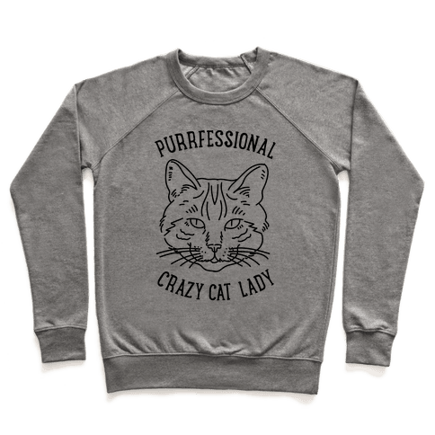 Purrfessional Crazy Cat Lady Pullover