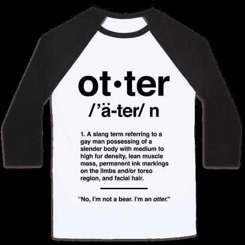 Otter Definition Baseball Tee