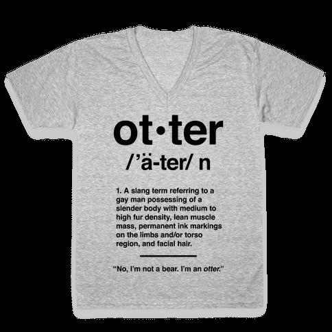 Otter Definition V-Neck Tee Shirt