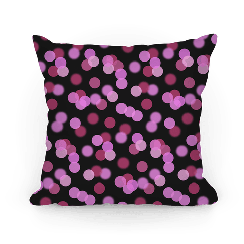 Pink Glitter Bokeh Pattern Pillow