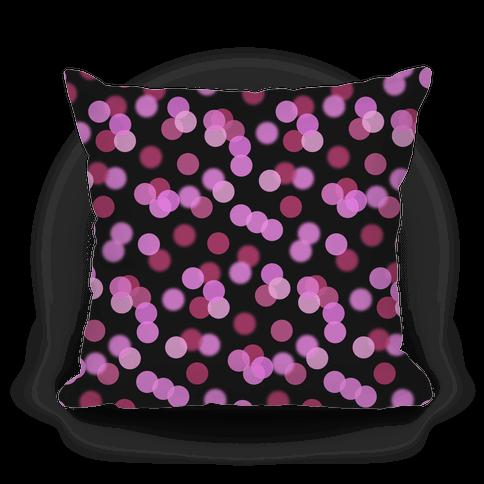 Pink Glitter Bokeh Pattern Pillow