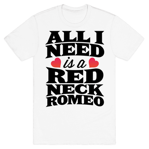 All I Need Is A Redneck Romeo Mens T-Shirt