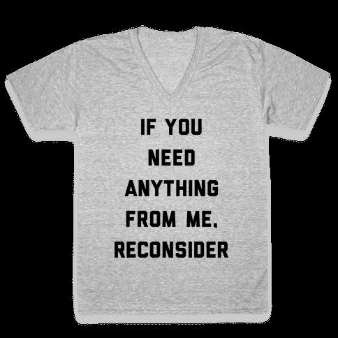 Reconsider V-Neck Tee Shirt
