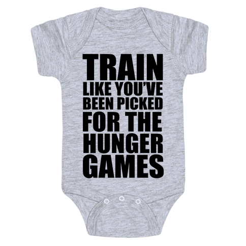 Train for the Hunger Games Baby Onesy