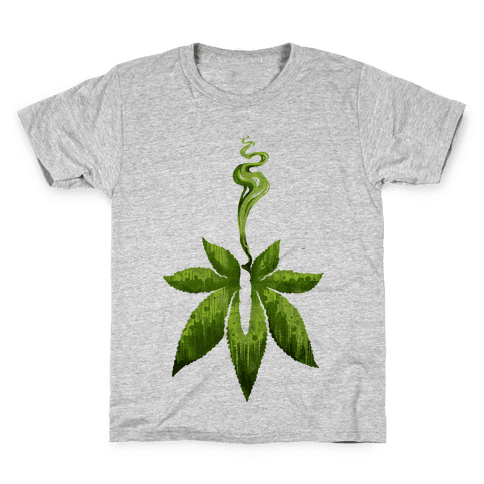 Green Leaf- Cannabis Kids T-Shirt