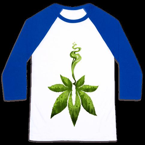 Green Leaf- Cannabis Baseball Tee