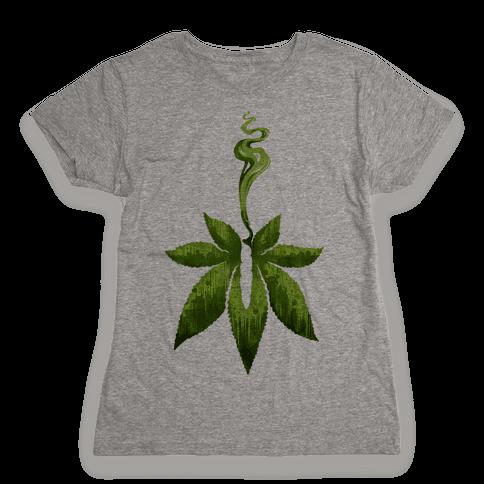 Green Leaf- Cannabis Womens T-Shirt