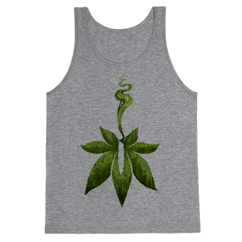 Green Leaf- Cannabis Tank Top