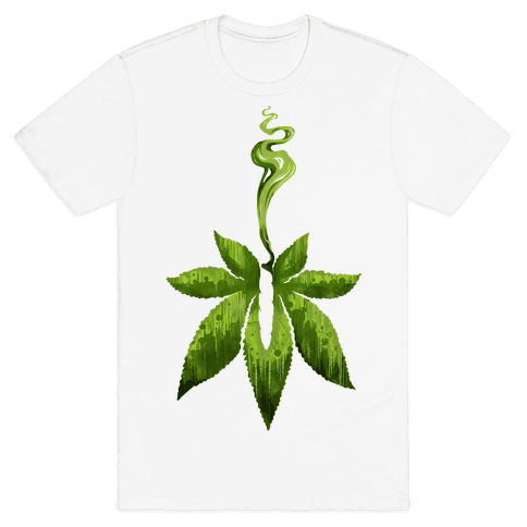 Green Leaf- Cannabis Mens T-Shirt