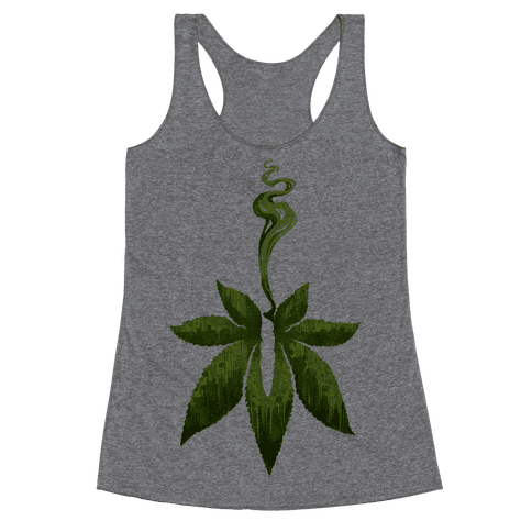 Green Leaf- Cannabis Racerback Tank Top