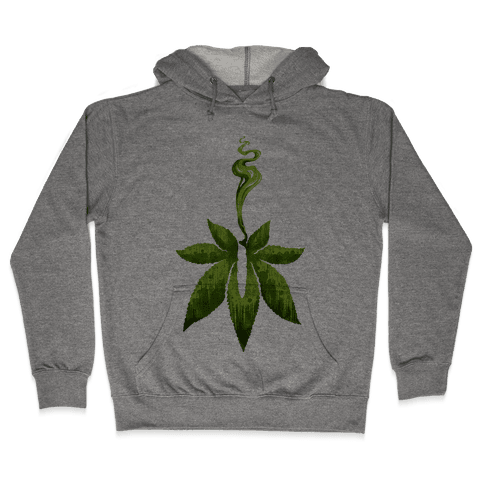 Green Leaf- Cannabis Hooded Sweatshirt