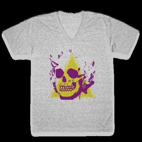 MARILYN SKULL V-Neck Tee Shirt