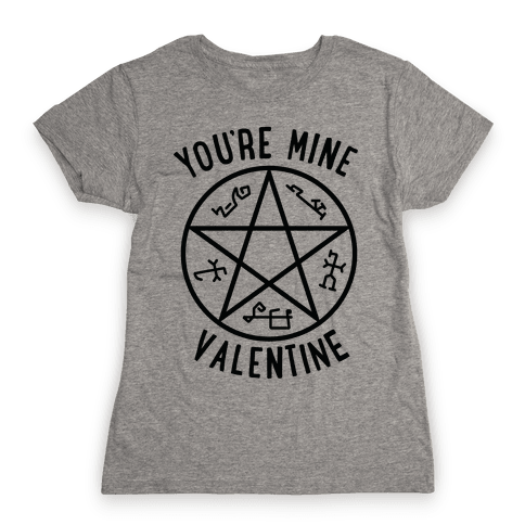 Devil's Trap Supernatural Valentine Womens T-Shirt