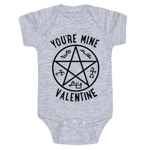 Devil's Trap Supernatural Valentine Baby Onesy