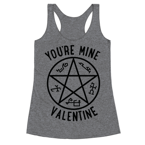 Devil's Trap Supernatural Valentine Racerback Tank Top