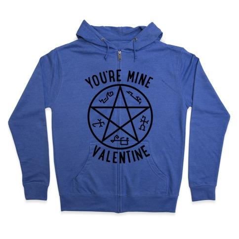 Devil's Trap Supernatural Valentine Zip Hoodie