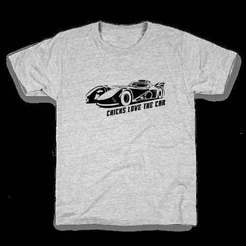 Chicks Love the Car Kids T-Shirt