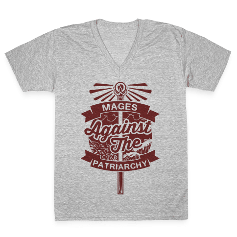 Mages Against The Patriarchy V-Neck Tee Shirt