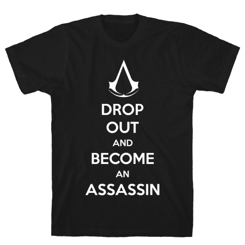 Become An Assassin Mens T-Shirt