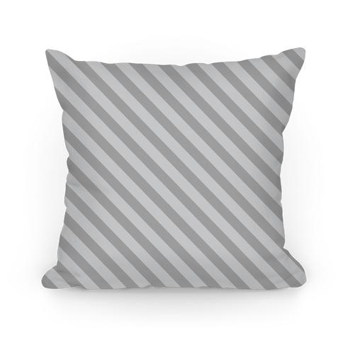 Gray Stripe Pattern Pillow
