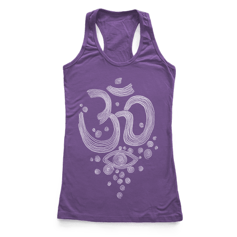 Om And Eye Racerback Tank Top