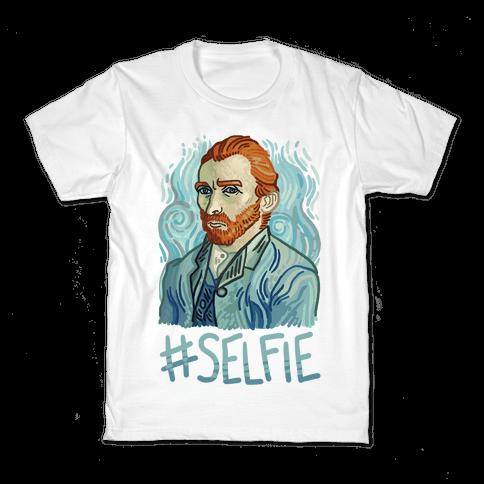 Van Gogh Selfie Kids T-Shirt