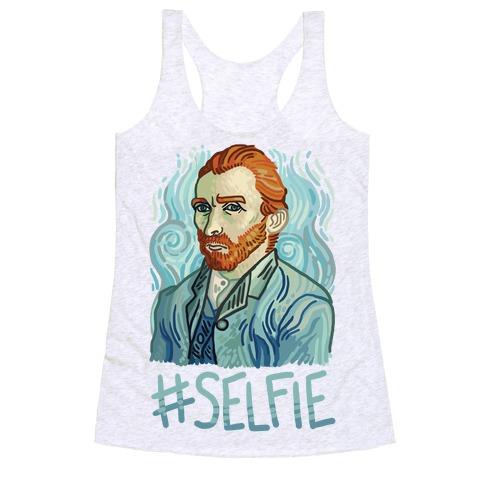 Van Gogh Selfie Racerback Tank Top