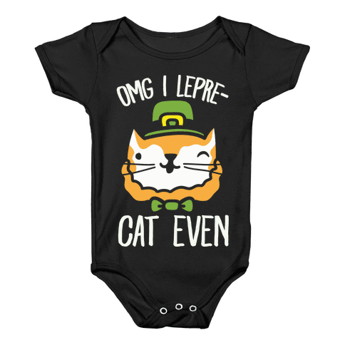 OMG I Lepre-Cat Even Baby Onesy