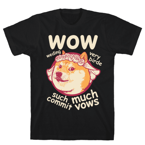 Wedding Doge Mens T-Shirt
